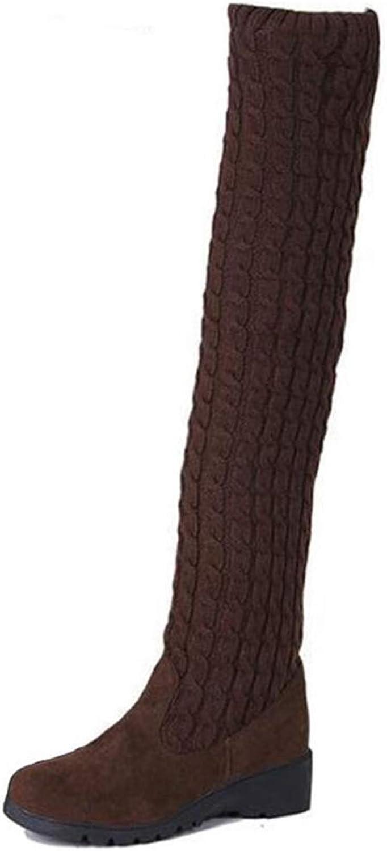Ghapwe Ladies Lace Up Wedge Sneakers Women Winter Wedges Plus Size Black White shoes Leg Length Leg Length Rubber Sole Girl Reasing Fashion Elegant Girl Black 7.5 M US shoes