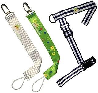 Pacifier Clip & Sippy Cup Holder 3 Pack Set - Unisex Bubbawarez (Unisex)