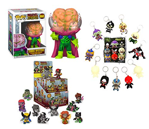 You Love Marvel Villains? Zombies? Check This: Zombie Mysterio 660 Pop! Pack W/ Bonus Mystery Mini Blind Box + Bonus Villians Zombies Bag Clip