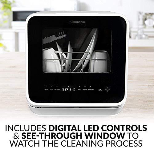 Farberware FDW05ASBWHA Portable Countertop Dishwasher