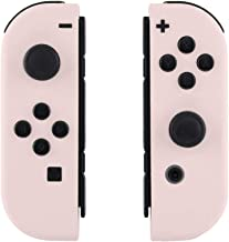 eXtremeRate Soft Touch Grip Sakura Pink Joycon Handheld Controller Housing with Full Set Buttons, DIY Replacement Shell Case for Nintendo Switch Joy-Con – Console Shell NOT Included