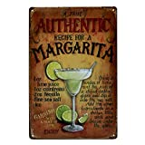 Ogquaton 1 elegante cartel de metal con diseño de Margarita para publicidad en la pared, placa de hierro para decoración de casa, habitación, cafetería, bar, pub, nuevo lanzamiento
