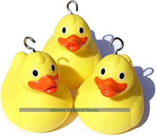 10 Weighted Race Ducks - for Duck Races and Hook a Duck Games (with Hooks)