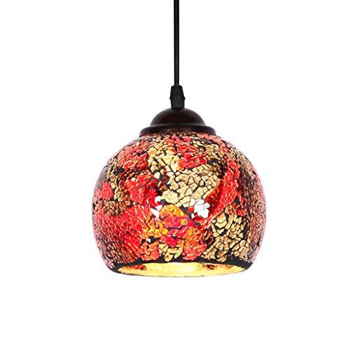 Mosaik Glas Hängelampe Pendelleuchte Deckenleuchte Lampenschirm mit E27 Fassung - Stil #3