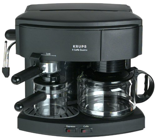 Find Bargain Krups 985-42 Il Caffe Duomo Coffee and Espresso Machine, Black