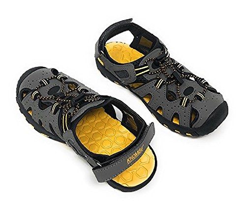 Khombu Kids Athletic Boys Grey Active Sandals (13)