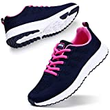 STQ Women Travel Sneakers Lightweight Breathable Mesh Athletic Running Walking Sport Shoes Navy 8.5