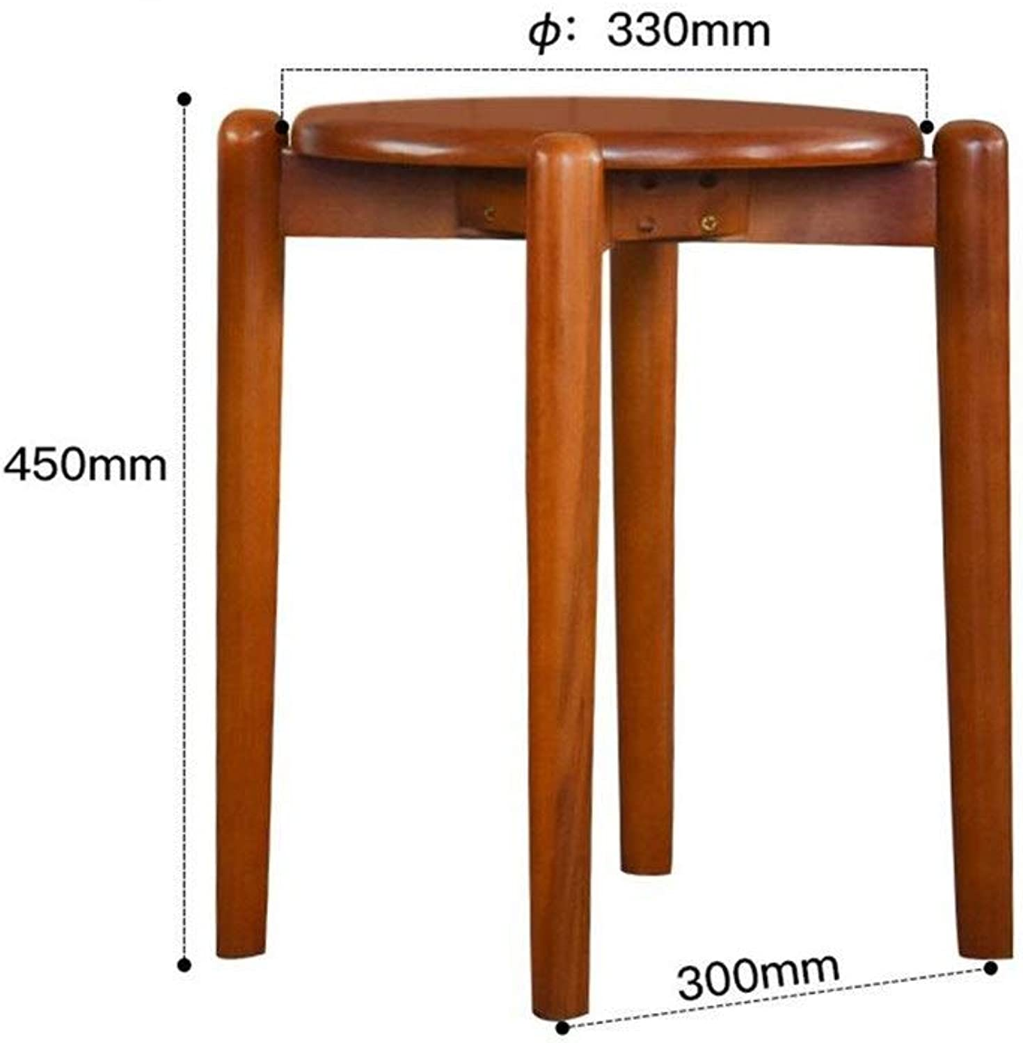 European Chair Solid Wood Stool, Simple and Stylish Wooden Stool, Living Room, Dining Chair, Chair, Stool, Adult Stool (color   D)
