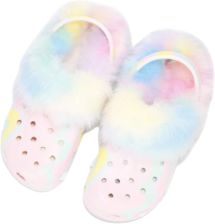 Cape Robbin Vigilante-7 Clogs Slippers for Women, Women's Fashion Comfortable Slip On Slides Shoes with Fur
