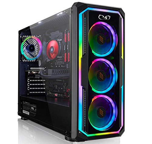 CeO-Tech Omega V1 PC Gaming - CPU Intel Gold G6400 4.00GHz 4MB Cache   RAM 8GB DDR4   SSD 240GB   GeForce GTX1050Ti 4GB   Ultra HD 4K   Wi-Fi   Windows 10 PRO