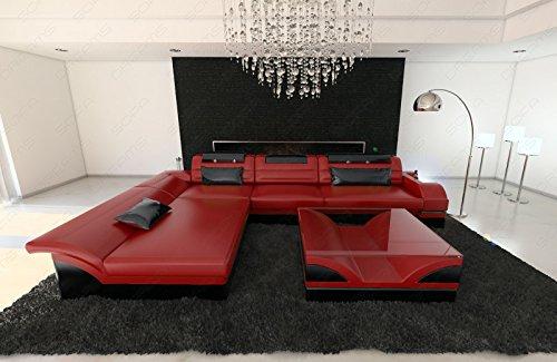 Sofa Dreams Leren bank Monza in de L-vorm met verlichting