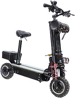 XPZ00 Scooters eléctricos para Adultos Plegable, Carga máxima de 125 kg con Asiento de 11 Pulgadas 24 km/H, batería de Litio 60V 38.4AH 60-70 km, luz LED y Pantalla HD