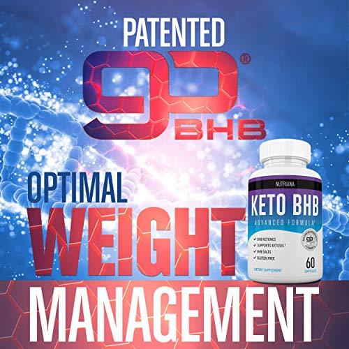 Nutriana Keto Diet Pills - Ketogenic Keto Pills for Women and Men - Keto Supplement BHB Salts - Keto Fast Exogenous Ketones - Ketosis Keto BHB Pills 60 Capsules 30 Day Supply 7