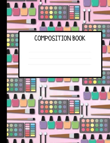 Lots of Makeup Wide Ruled Composition Notebook