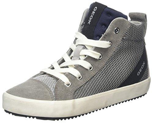 Geox Jungen J Alonisso Boy A Hohe Sneaker, Grau (Grey/Black), 31 EU