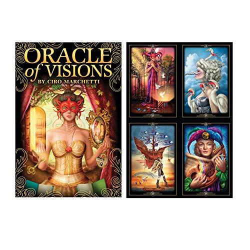52 PC-Oracle-Karten von Visions, Englisches Tarot-Karten Divination Brettspiele Karten für Teens lustige Fee Spiele Lovers