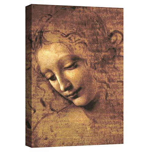 canvashop Quadro Leonardo da Vinci La Scapigliata Quadri Moderni Soggiorno Stampa su Tela con Telaio cm 100x70