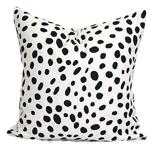 Toll2452 Black PILLOW18x18 inchPillow Pillow CoverDecorative PillowBlack Throw PillowBlack Animal Print Pillow Cushion Dalmation AnimalCm