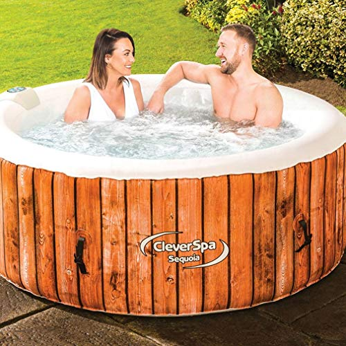 CLEVER SPA Sequoia Inflatable 4-Person Hot Tub, Red, One Size