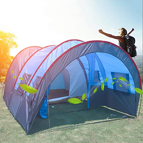 Tunnel Tent Family Tent Camping Tents, Multi-person outdoor activities one-room two-hall tent
