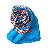 ベトナムシルクベトナムシルク100% Cocosilkココシルク スカーフ (ブルー)