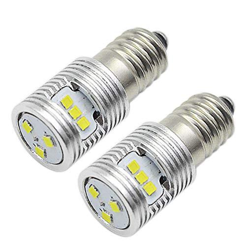 Ruiandsion 2 bombillas LED E10 de 6 a 24 V 1 W de repuesto para faros delanteros, linternas, kit de conversión LED, no polaridad