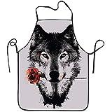 Reredith Wolf baumelnde Rosen-Schürze für die Küche, die Kochs-Schürze kocht