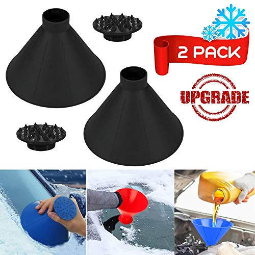 Big Save! Round Windshield Ice Scraper, Magic Snow Removal Shovel Tool Cone Shaped Frost Removal Fun...
