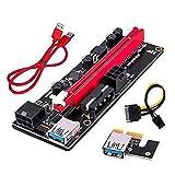 Tamkyo 10 Piezas Placa Elevadora Pci-E 1X Om 16X Tarjeta Elevadora Extensora Gpu Pci-E Adaptador Gpu USB 3.0 con Interfaz de 6 Pines (B)