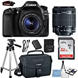 Canon EOS 80D 24.2MP DSLR Camera Bundle (Wi-Fi) with Canon EF-S 18-55mm f/3.5-5.6 is STM Lens + Canon Camera Bag + 32GB Memory Card + Canon Deluxe Camera Bag + 50' Tripod + Camera Starter Kit