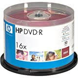HP DM16WJH050CB 4.7GB DVD-Rs, 50-ct Printable Spindle (DM16WJH050CB)