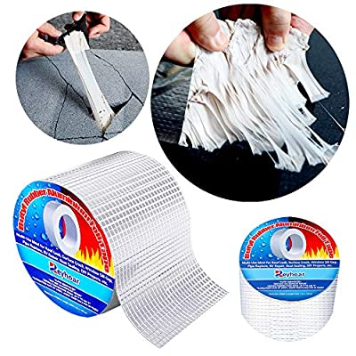2020 Professional 4in 16.4ft Super Waterproof magicTape Butyl Aluminium Foil Seal Duct Tape Patch Tape Multi-Use Repair for HVAC Ducts Pipes Crack Metal RV Awning Roof Leak Window Seal by Reyhoar