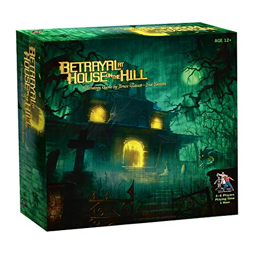 Avalon Hill Betrayal at House on The Hill, Brettspiel für Kinder ab 12 Jahren, ENGLISCHE Version