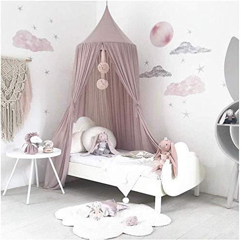 jsadfojas Moskitonetz Baby Baldachin Betthimmel Kinder Bett Baumwolle Hängende Moskiton für Reise und Zuhause Zeit Höhe 240 cm (240 x 260 cm, Lila1)