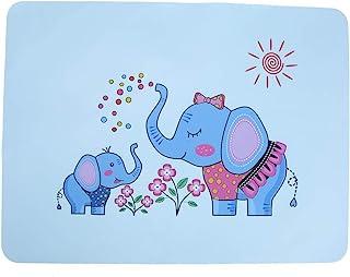 LFLF Set De Table pour Enfantsle éléphant 100g / 3.5ozilicone Motif Animal Mignon Motif D'isolation Antidérapante