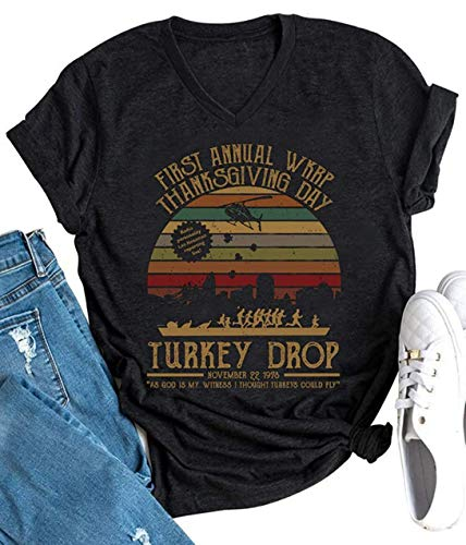 Women's First Annual WKRP Turkey Drop T Shirts...