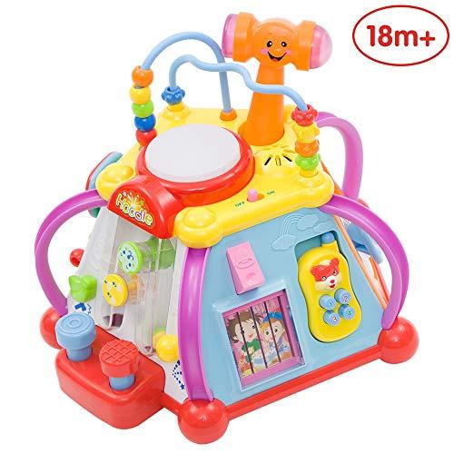 ANIKI TOYS Bebé Cubo Actividad Musical, 6 Juegos educativos tempranos en 1 Juguete