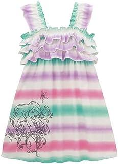 [ベルメゾン] ディズニー 子供服 チュニック ワンピース 女の子 マーメイド フリル ワンピース ミント系ボーダー