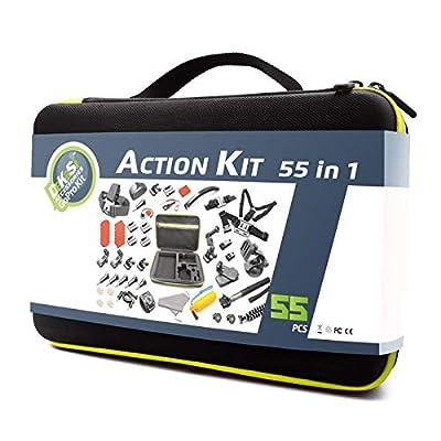 DeKaSi Action Camera Accessories Kit for GoPro Hero Max 7 6 5 4 3+ 3 2 1 Hero Session 5 Black Accessory Bundle Set for Yi AKASO Apeman (GoPro-Accessories-Case-kit-Max) from DeKaSi