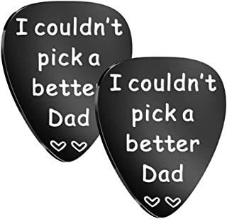KESYOO 2pcs I Couldnt Pick a Better Dad Guitar Pick Stainless Steel Inspirational Dad Fathers Day from Daughter Son (Black)
