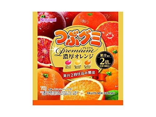 春日井製菓 つぶグミ プレミアム 濃厚オレンジ 75g×10個
