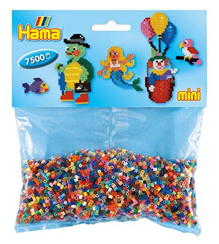 Hama 583 Bügelperlen Mini, ca. 7500 Stück in 49, Mehrfarbig