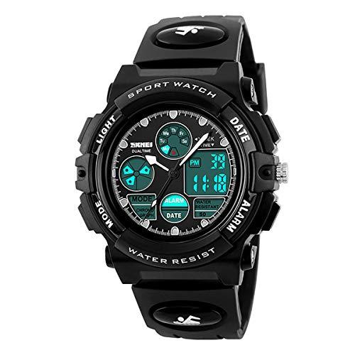 Arkhasa Original Skmei1163 Black Analog Digital Multifunction Sports Wrist Watch Waterproof watchfor Boys & Girls Teenagers