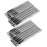 Herramienta de perforación de cuero manual de bricolaje de acero 20 piezas perforadora para bandas herramienta de artesanía de cuero