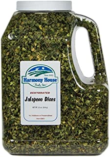 Harmony House Dried Jalapeno Peppers – Dehydrated Peppers For Cooking, Camping, Emergency Supply and More, 22 oz, Gallon Jug