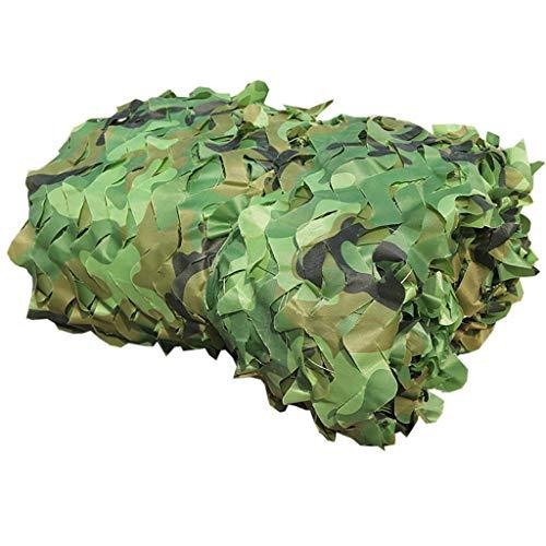 PLLP Shade Net, Wald Tarnnetze Sonnenschutz Outdoor-Camping-Militär-Jagd-Schießen Blinde Große Kulisse Jungle Maple Exhibit Baumhäuser Zelt Zusehen,5Mx8M