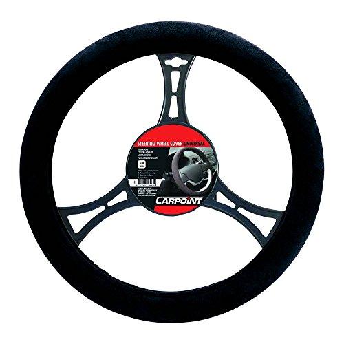 Carpoint 2510075 Couvre Volant Suédine Noir