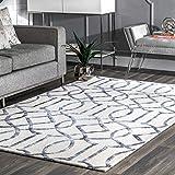 nuLOOM Satara Moroccan Trellis Wool Area Rug, 3' x 5', Silver