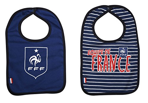 Equipe de FRANCE de football Bavoir bébé x 2 FFF - Collection Officielle