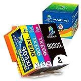 DOUBLE D Upgraded Chip Cartuchos de tinta compatibles con HP 903XL 903 XL para HP Officejet Pro 6950 6960 6970 6950 6960 6960 6970 6950 6960 (negro, cian, magenta y amarillo)